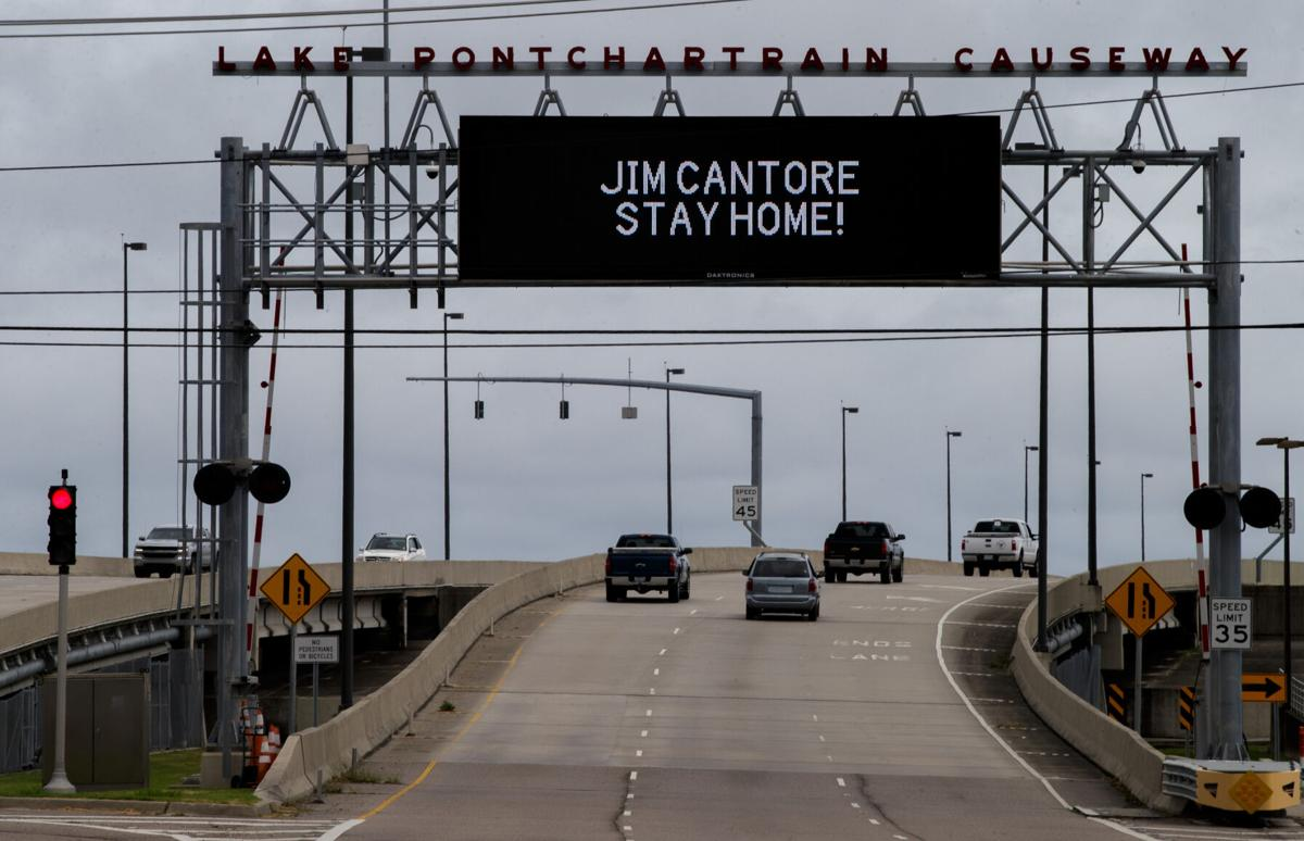 Jim Cantore sign on Causeway