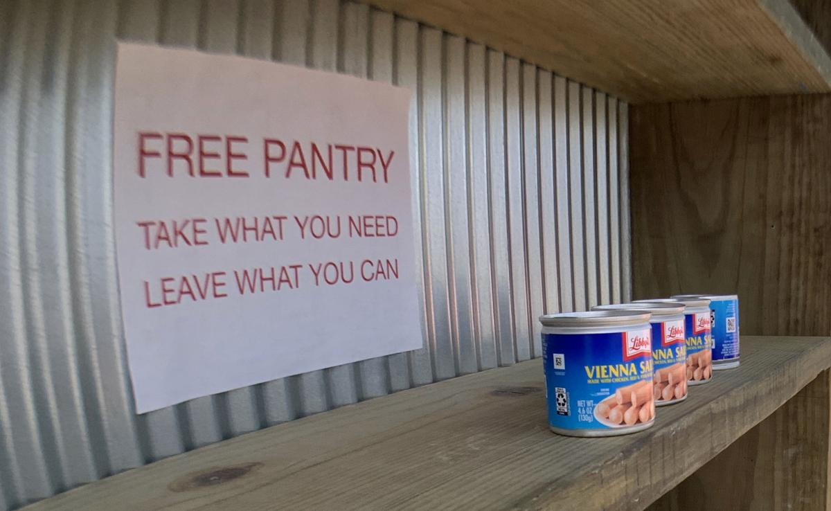 William  Monaghan's do-it-yourself food pantry on Erato Street