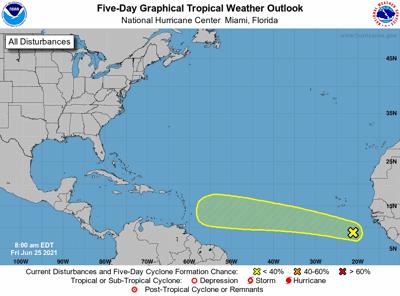 Tropical outlook 7am June 25