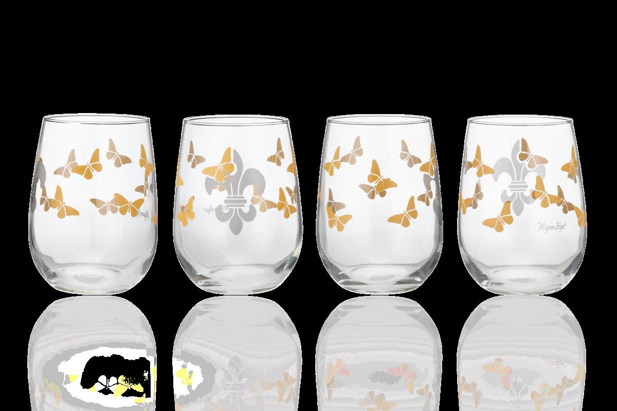 Rebirth Butterfly Fleur De Lis Glasses $45 Mignon Faget.png