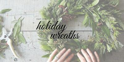 Create Your Own Wreath at this Socially Distanced Workshop