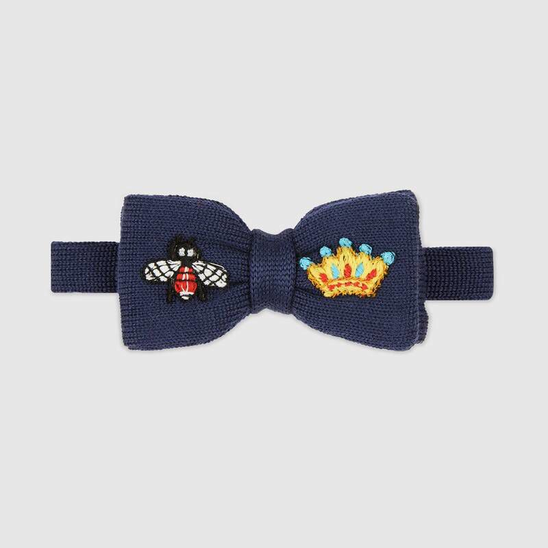 Children's embroidered wool knit bow tie $120 GUCCI.jpg