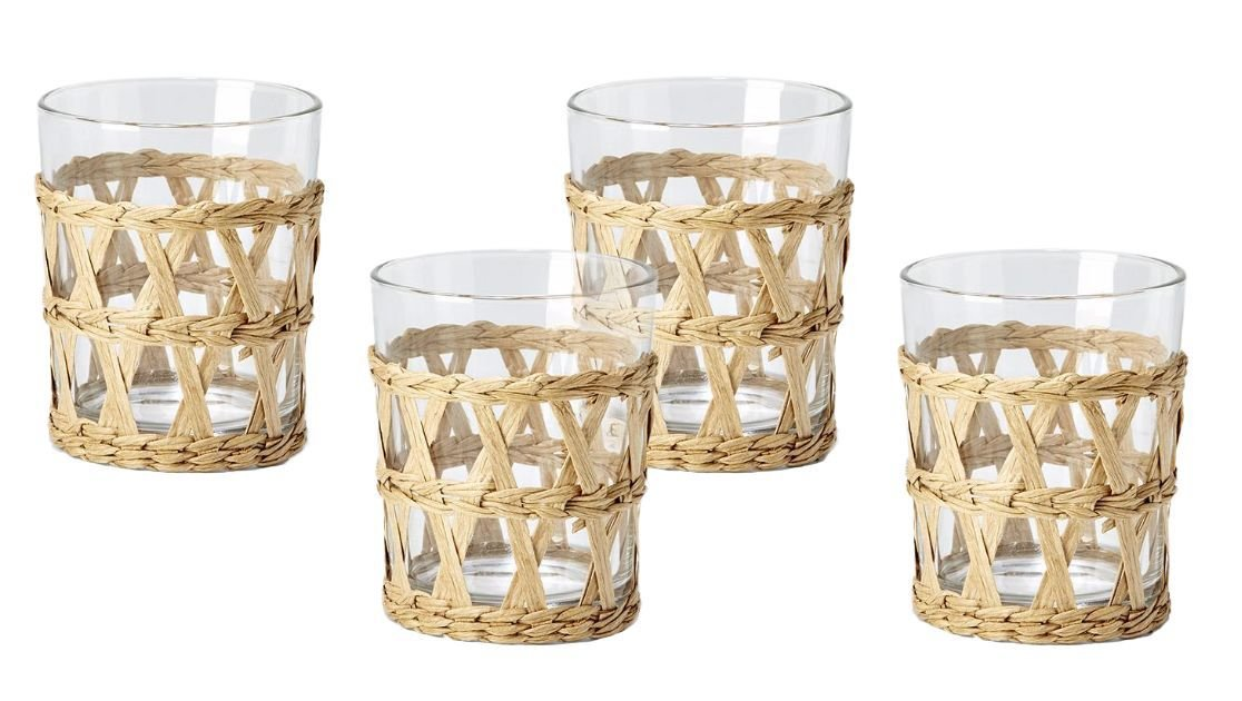 Two's Company Island Chic Hand-Woven Lattice Glasses Old Fashioned $14 each.psd