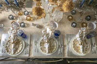 Setting the Scene: A Hanukkah Table that Combines Both Old and New