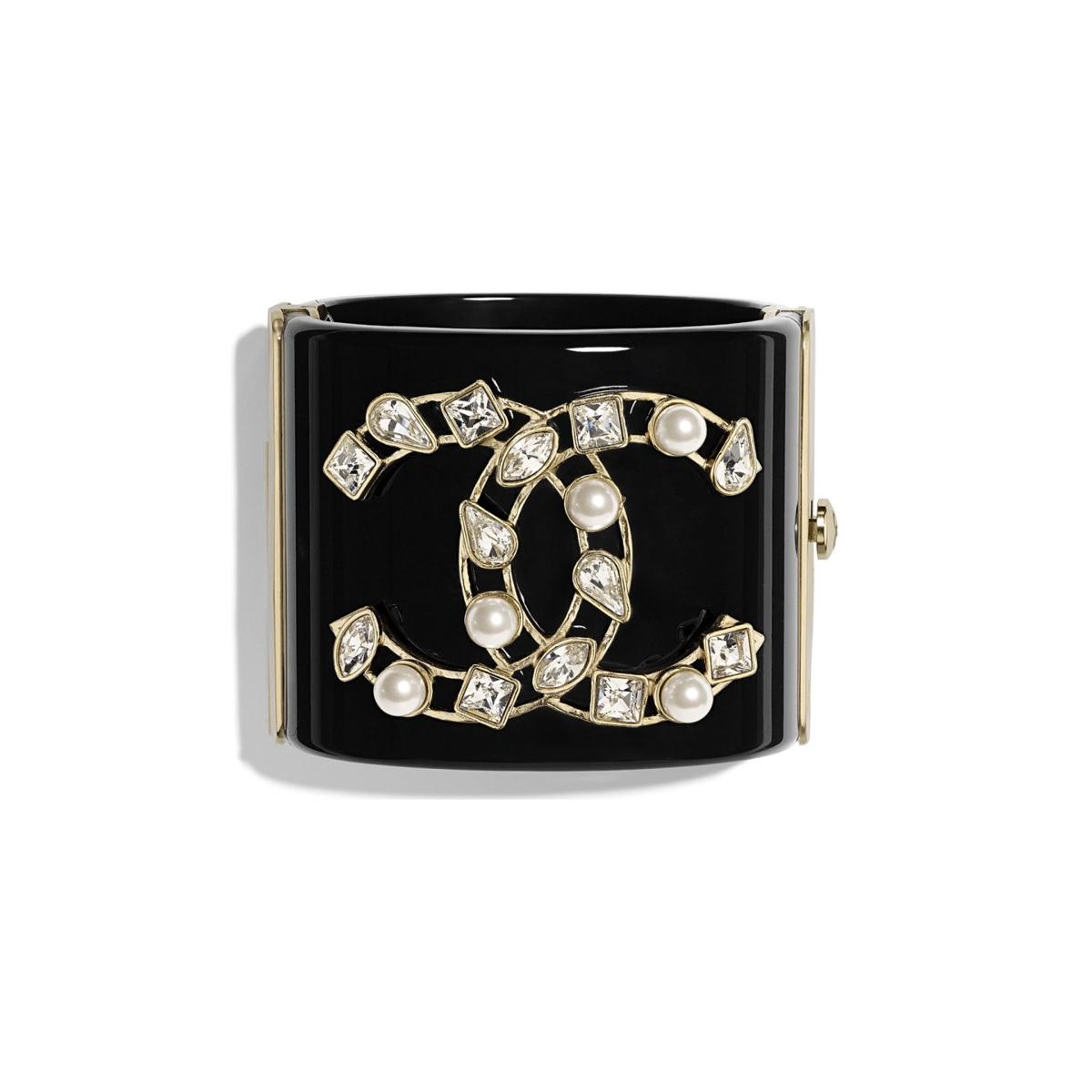 1450. resin and pearl chanel cuff.jpg
