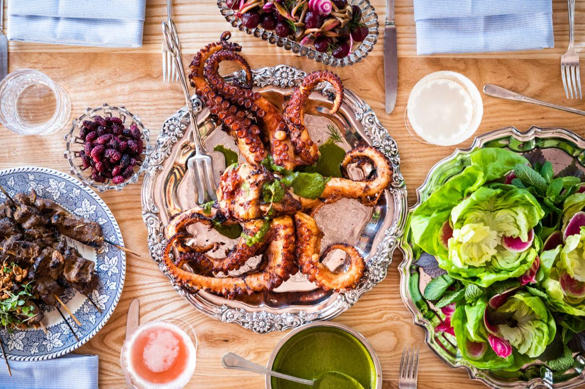 Ssam Style Charmoula Octopus, Lettuce, Herbs, Radish photo credit Paprika Studios.jpg