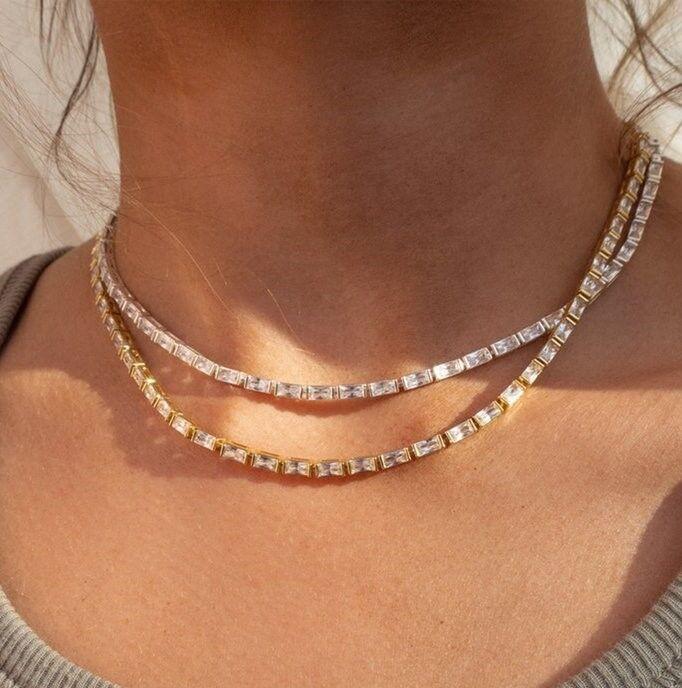 Baguette Eternity Necklace $178 Monomin.jpg