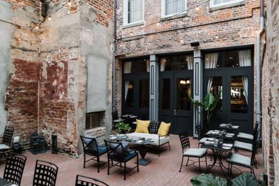Bisous Wine Garden Is Downtown's Newest Hidden Oasis
