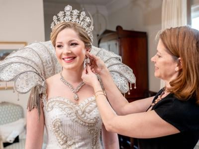 Birds of a Feather: An At-Home Reception with the Queen