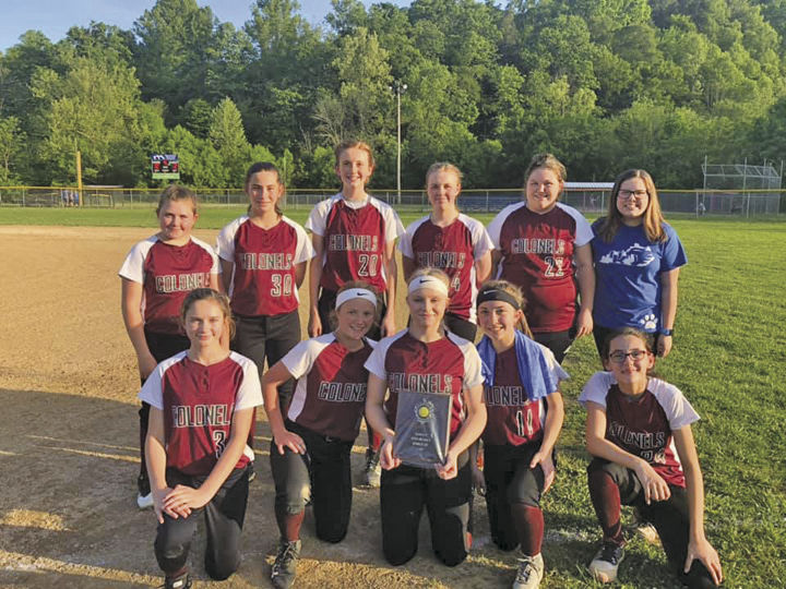 2019 JCMS Lady Colonels Softball team