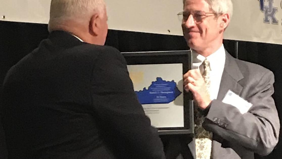 Thompson honored for service to KPA