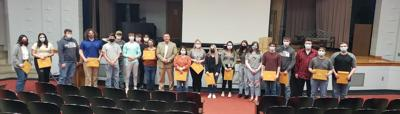 Rep. Bill Wesley Presents Awards to LC Students