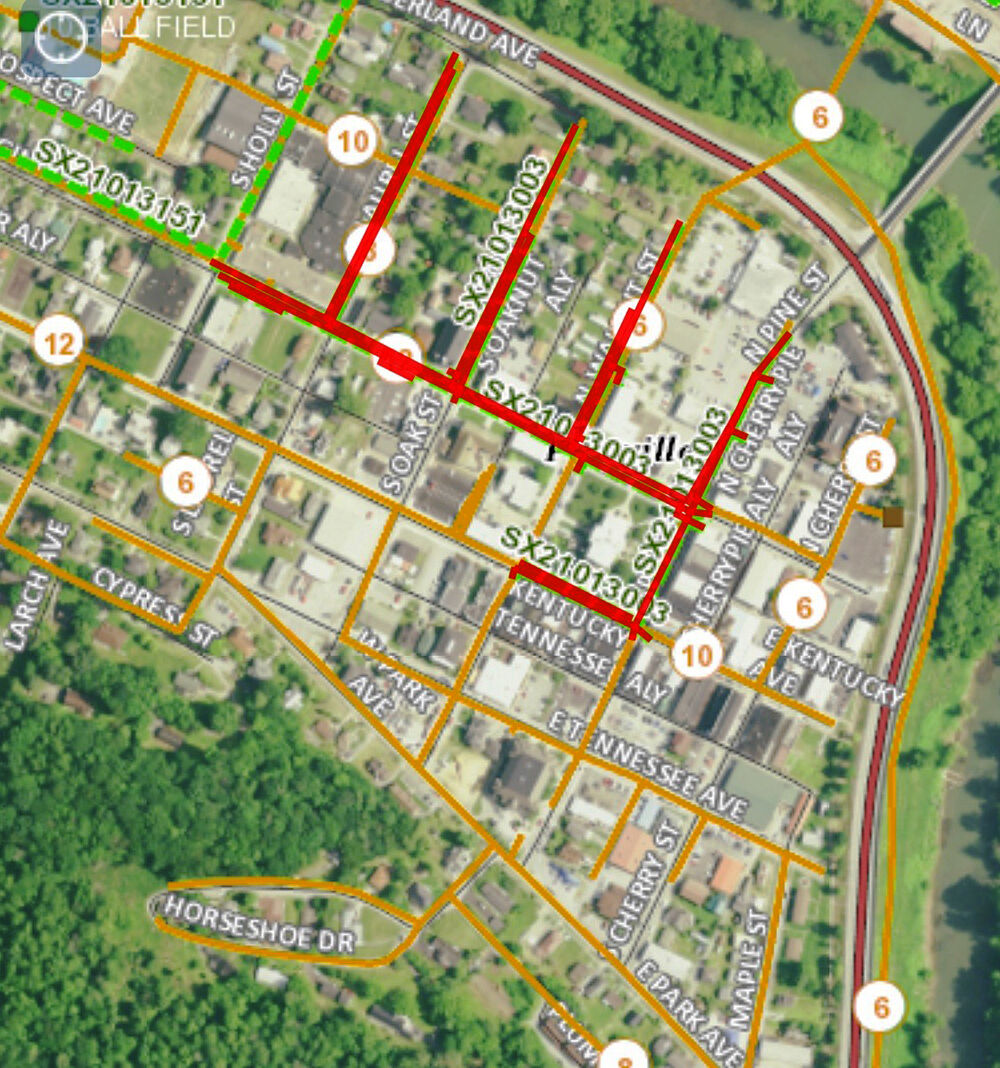 Map of Pineville Courthouse Square Project
