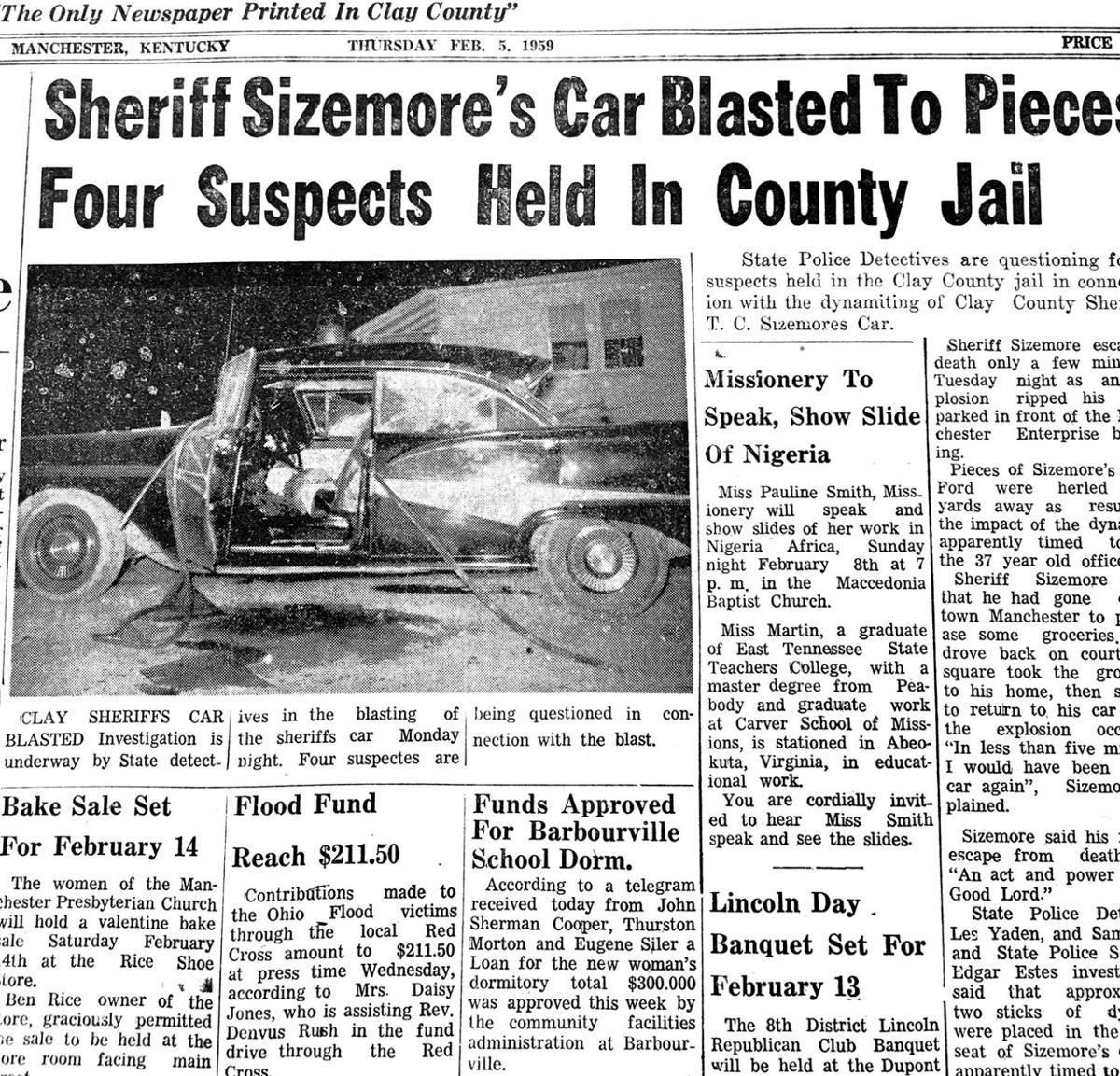 BLASTED! Bootleggers blast sheriff's car | Manchester