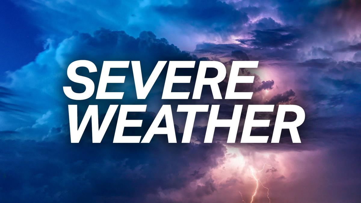 Thunderstorm warning issued for Sunday evening