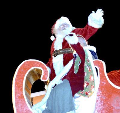 Santa Christmas parade