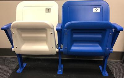 New chair backs at Rupp pic
