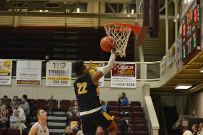 Kevionte Turner goes up for two against Pineville
