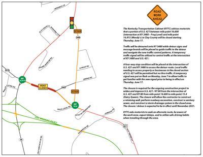 Road detour starts Thursday