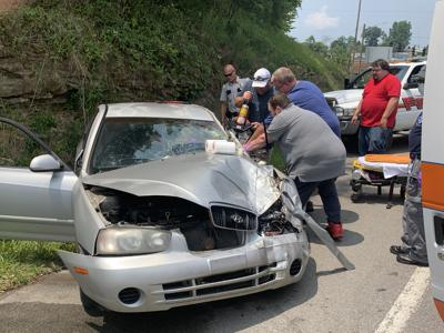 Accident causes traffic delay
