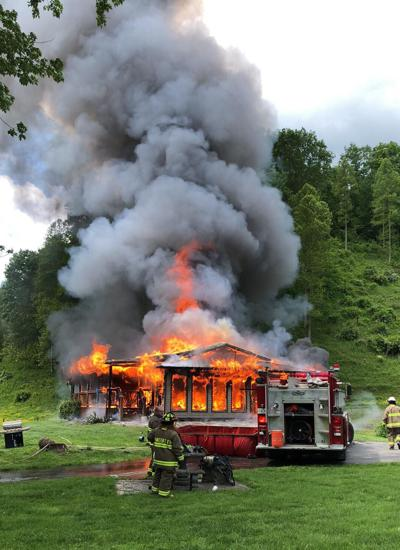 House on Hwy 708 Burns to the Ground