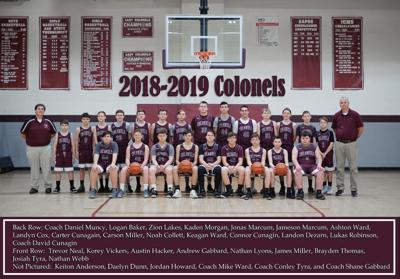 2018-2019 JCMS Colonels Basketball teams