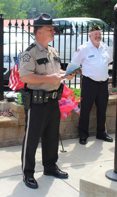 Guest speaker Sheriff Paul Hays pays tribute to our country and those that have fallen in defense of our freedom.jpg
