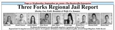 Three Forks Regional Jail Report - September 30, 2020