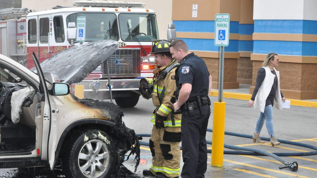 Vehicle fire at Ross