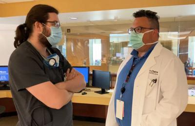Drs. Adam Howard and William Melahn (St. Claire photo)