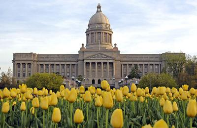 Kentucky capitol spring