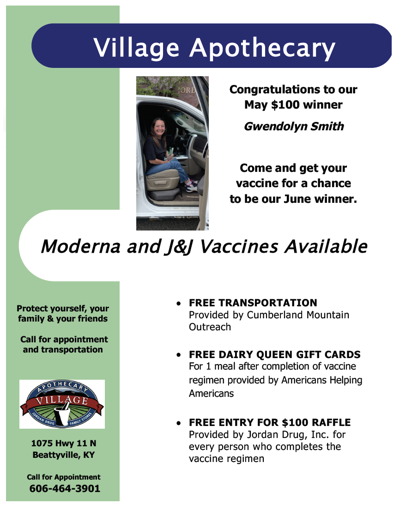Village Apothecary - Moderna and J&J Vaccines Available!