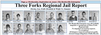 Three Forks Regional Jail Report - September 16, 2020