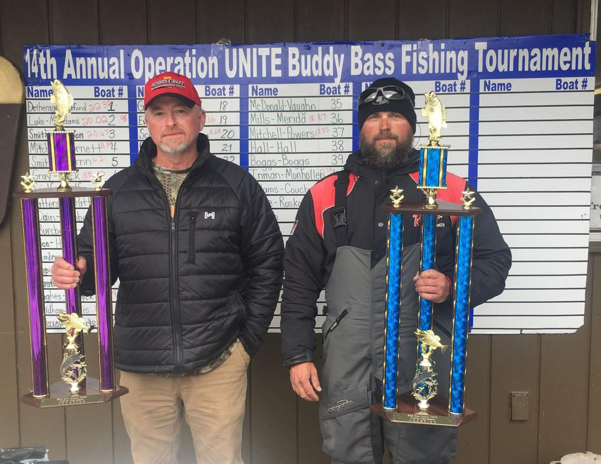 First place winners of 14th Annual fishing tournament