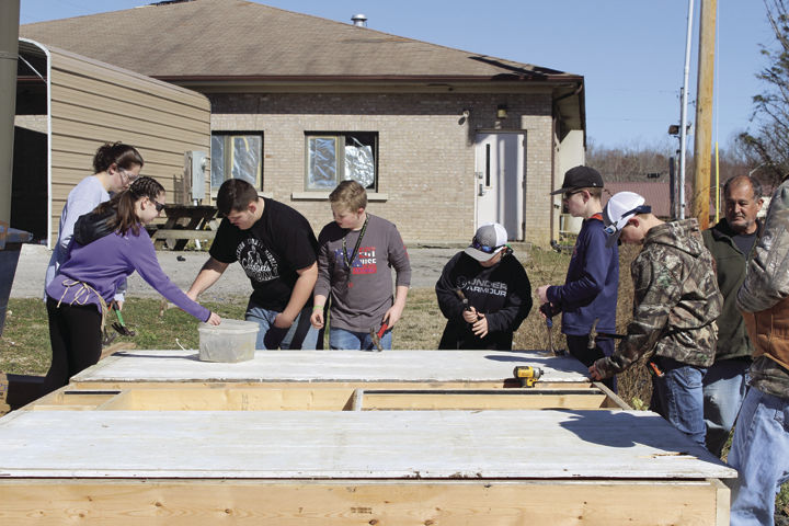 JCPS students build an emergency shelter for the homeless