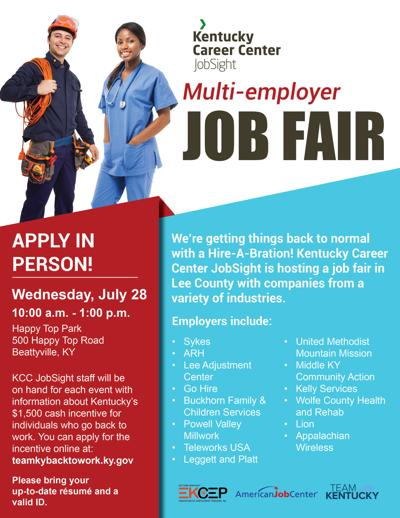 Job Fair Wednesday at Happy Top Community Center