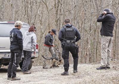 Dog team used in search for missing men
