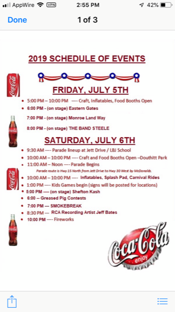 Heritage Fair & Pig Out in the Park schedule of events