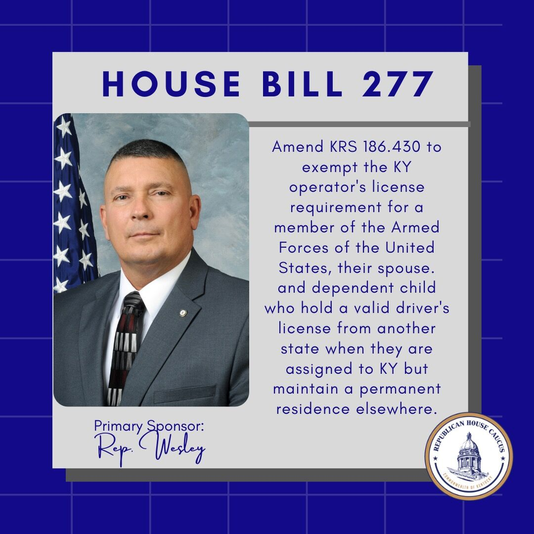Bills that State Rep Bill Wesley is sponsoring and co-sponsoring