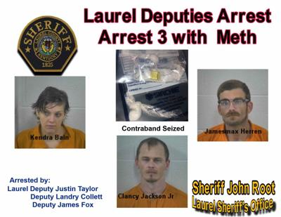 Three charged in drug arrest