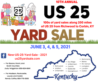 US 25 Yard Sale Logo
