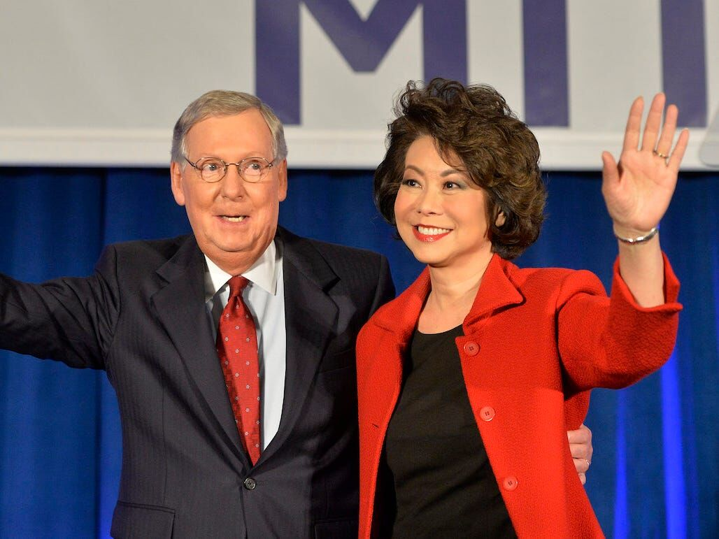 Senator Mitch McConnell and wife Elaine Chao