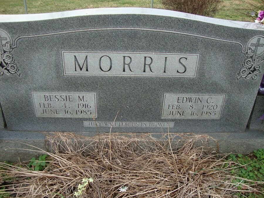 Edwin and Bessie Morris Head stone