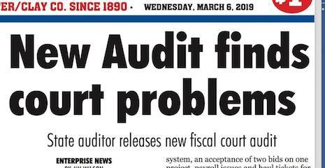Fiscal Court Audit: Read this article and more in the Wednesday