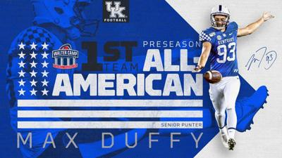 Max Duffy Named First-Team Preseason All-American by Walter Camp