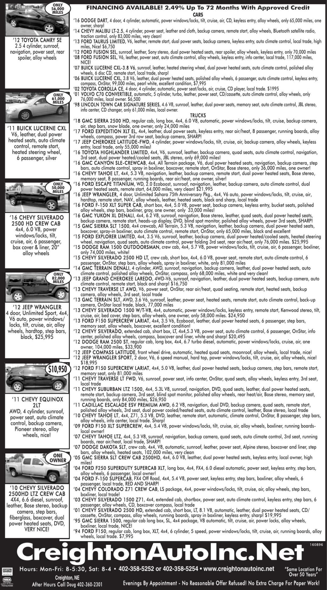 Creighton Auto Sales