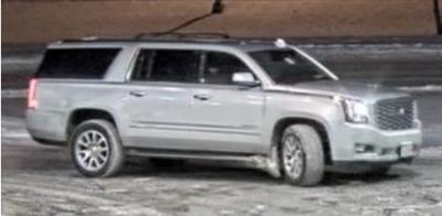 Skimming suspect vehicle