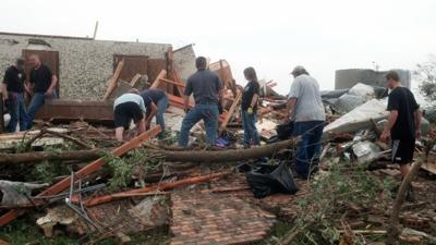 Home destroyed by tornado