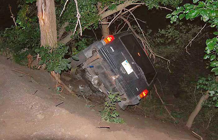 Adam Carlson and stolen SUV