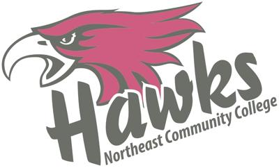 Northeast Community College Hawks athletic logo.